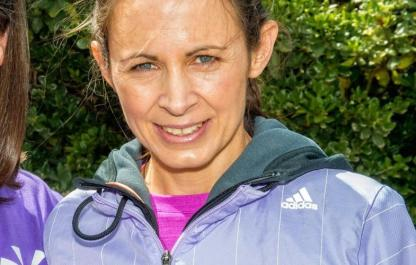 Jo Pavey at the launch of Join In's Run It
