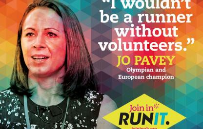 Jo Pavey supports Join In's volunteering campaign